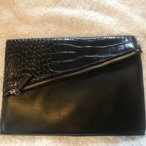 Handbags - Black leather envelope purse